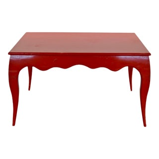 Red Lacquer Dining Table