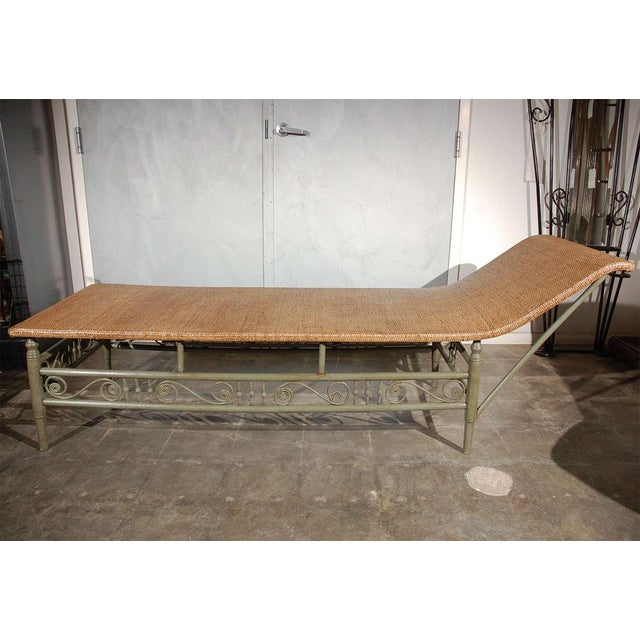 Antique Heywood Wakefield Chaise Lounge For Sale - Image 4 of 9