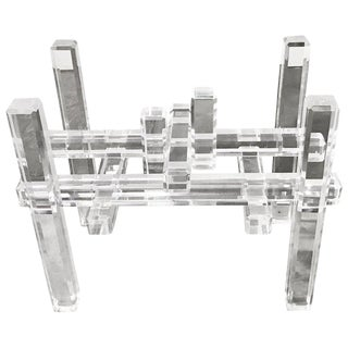 Cityscape Lucite Table Base in the Manner of Charles Hollis Jones For Sale