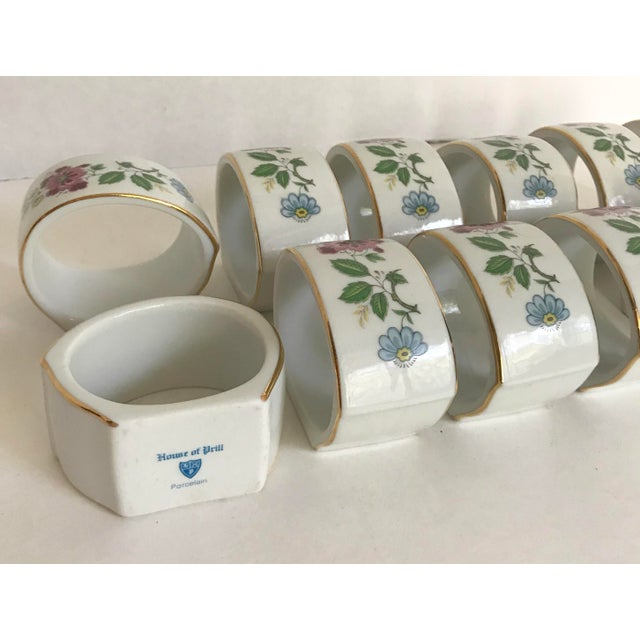 Cottage 1960s Vintage House of Prill Bird of Paradise Napkin Rings - Set of 12 For Sale - Image 3 of 4