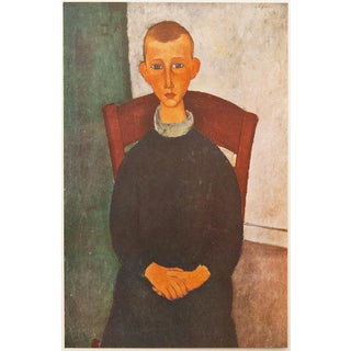 """1947 Amedeo Modigliani """"The Son of the Concierge"""", First Edition Parisian Lithograph For Sale"""