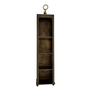 20th Century Asian Modern Small Brass Etagere For Sale