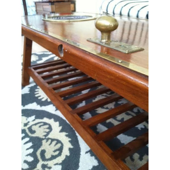 Authentic Nautical Repurposed Ship's Door Coffee Table - Image 6 of 6