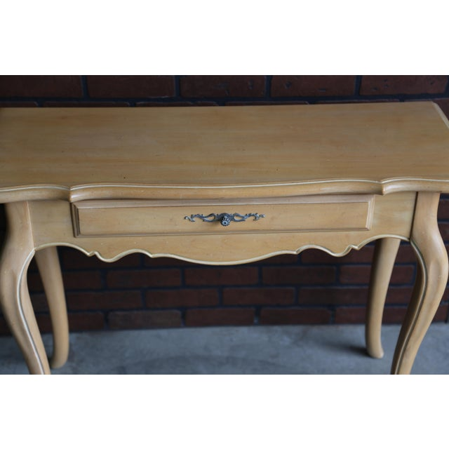 1990s 1990s French Country Ethan Allen Console For Sale - Image 5 of 7
