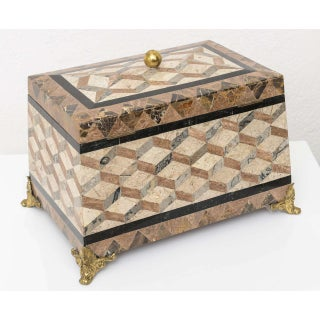 English Regency Revival 1980s Tessellated Stone Box Preview