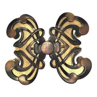 Large Yves Saint Laurent Unisex Art Nouveau Style Belt Buckle For Sale