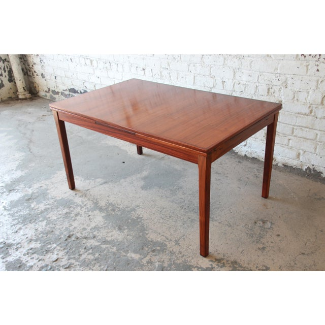 Arne Vodder for Sigh & Sons Danish Modern Rosewood Extension Dining Table For Sale - Image 10 of 10