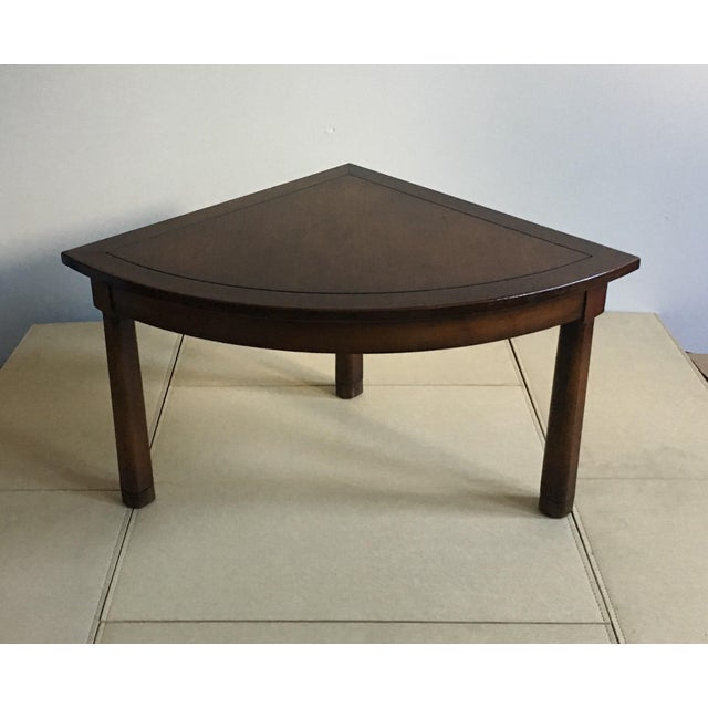 Mid Century Corner Table With Reverse Tapered Legs For Sale - Image 4 of 11
