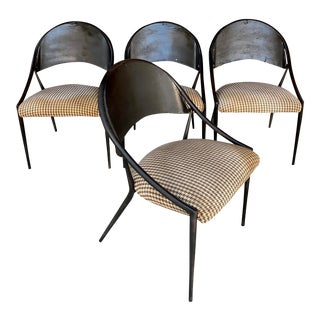 1970s Vintage Metal Dining Chairs- Set of 4 For Sale