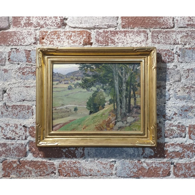 George Gardner Symons-A View down to the Farm-Oil painting-Important Impressionist For Sale - Image 10 of 10