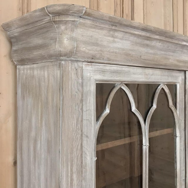 19th Century French Louis Philippe Period Whitewashed Bookcase For Sale - Image 9 of 13