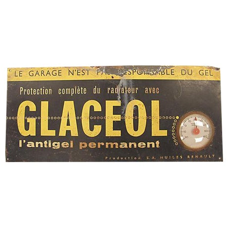 French Mechanic Shop Sign - Image 1 of 3
