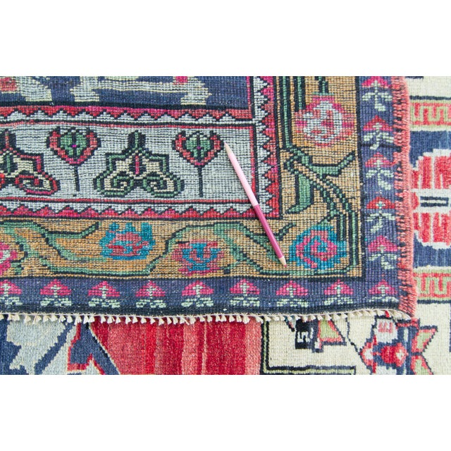 """House of Séance - 1940s Vintage Anatolian Taspinar Oushak Wool Pile Hand-Knotted Rug - 4'10"""" X 8' For Sale - Image 9 of 11"""
