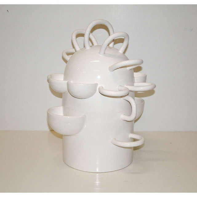 """France 2001 A large whimsical white bisque ceramic fruit bowl inspired by the """"Simpsons"""" in a limited edition of fifty...."""