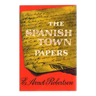 """1959 """"The Spanish Town Papers: Some Sidelights on the American War of Independence"""" Collectible Book For Sale"""