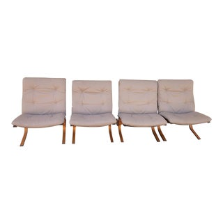 "1960s Vintage Ingmar Relling for Westnofa ""Siesta"" Bentwood Chairs - Set of 4 For Sale"