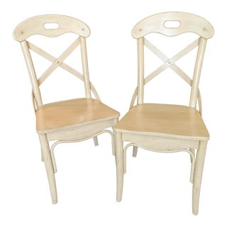 Vintage Cross Back Bentwood Chairs - A Pair