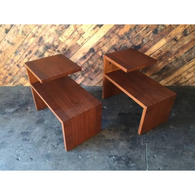Mid-Century Vintage Walnut Side Tables - A Pair - Image 7 of 8