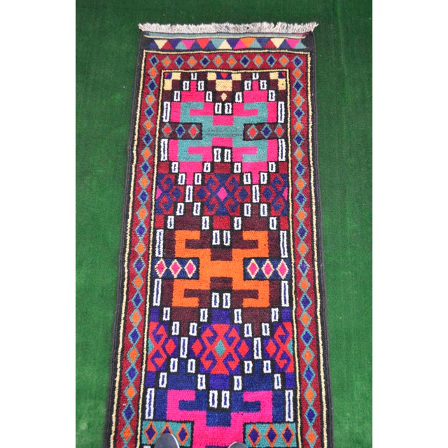 Long Runner Kurdish Hand-Knotted Rug - 2′9″ × 15′5″ - Image 7 of 10