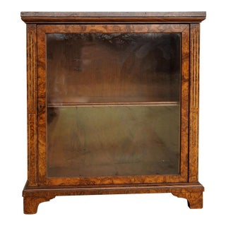 Neoclassical Burl Walnut Table Top Display Cabinet