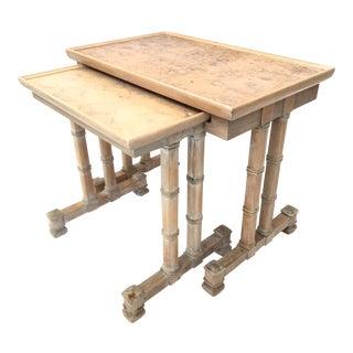 Dorothy Draper Heritage Bamboo Nesting Side Tables For Sale