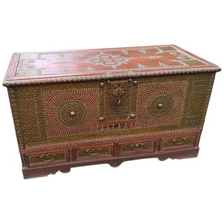 19th Century Anglo-Indian Brass-Clad Chest For Sale