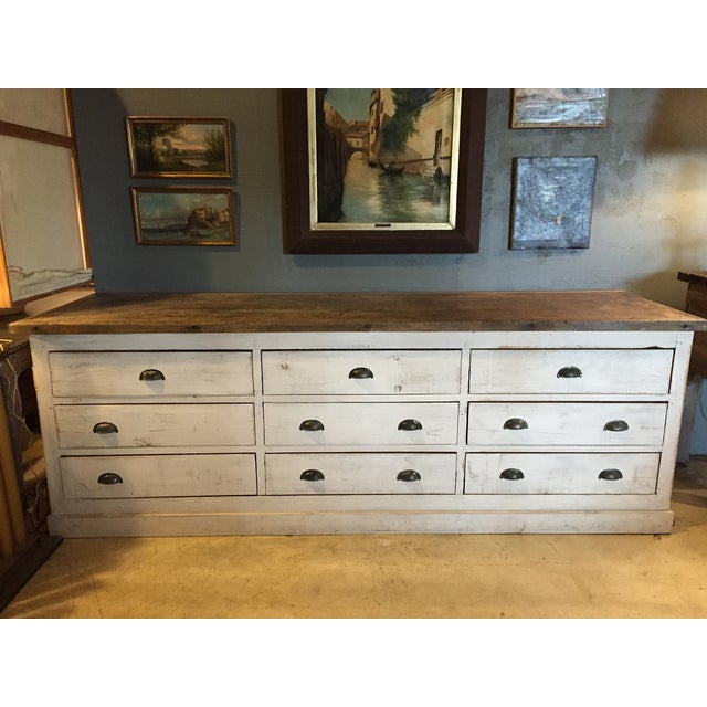 Vintage Weathered White Buffet or Triple Dresser - Image 2 of 11