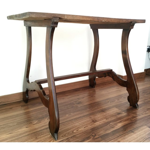 19th Spanish Farm Table or Desk Table For Sale - Image 11 of 11