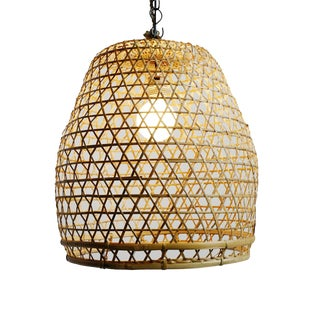 Flat Top Fish Basket Lantern Medium For Sale