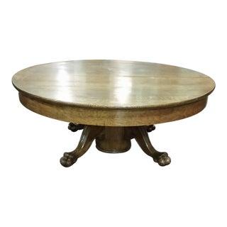 Vintage American Tiger Round Oak Coffee Table