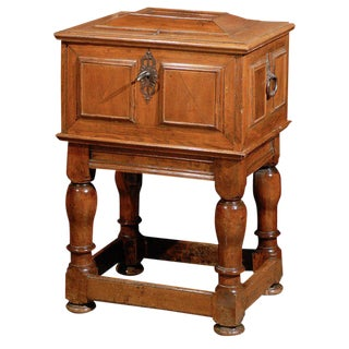 Swedish Period Baroque Early 18th Century Box on Stand For Sale