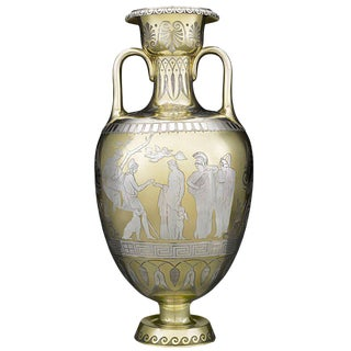 Victorian Parcel-Gilt Vase by D & C Houle For Sale