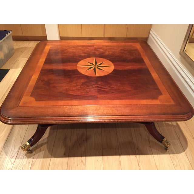 Square Mahogany Coffee Table - Image 9 of 11