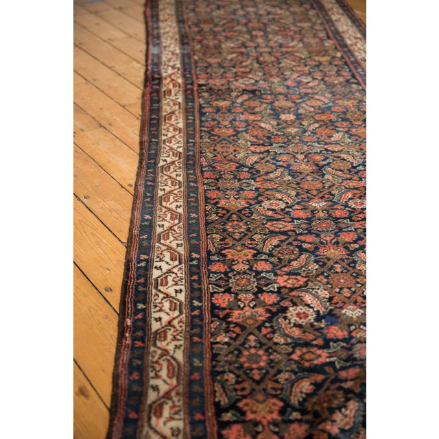 "Vintage Hamadan Rug Runner - 3'8"" X 22'9"" For Sale In New York - Image 6 of 13"