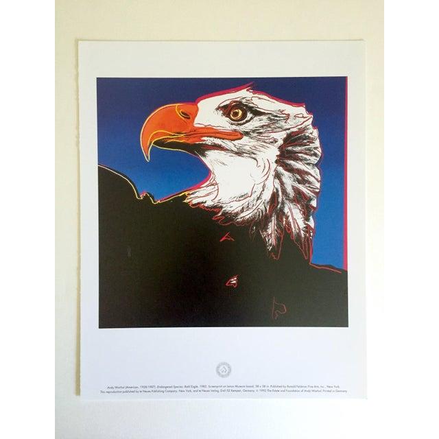 "1990s Andy Warhol Estate Rare Vintage 1992 Endangered Species Collector's Lithograph Pop Art Print "" Bald Eagle "" 1983 For Sale - Image 5 of 10"