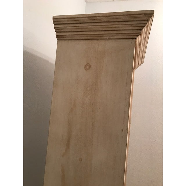 Rustic Whitewashed Rustic Pine Bookcase For Sale - Image 3 of 5