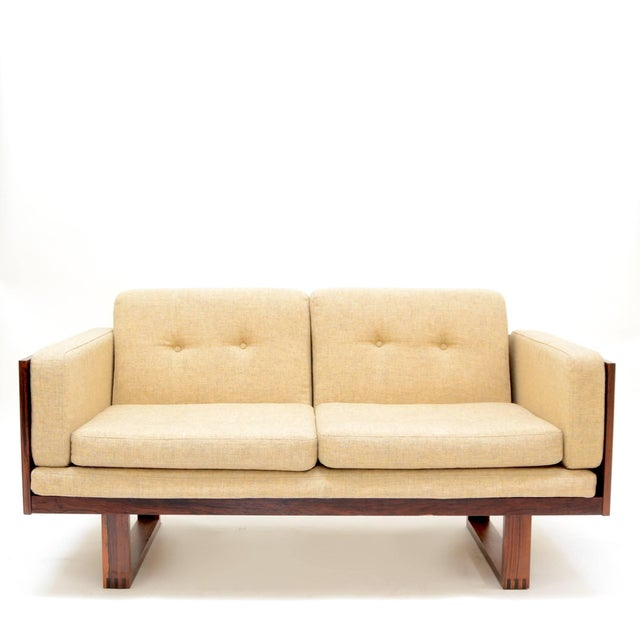 Mid 20th Century Poul Cadovius Two-Seat Sofa and Chair Set in Rosewood for France & Son For Sale - Image 5 of 10