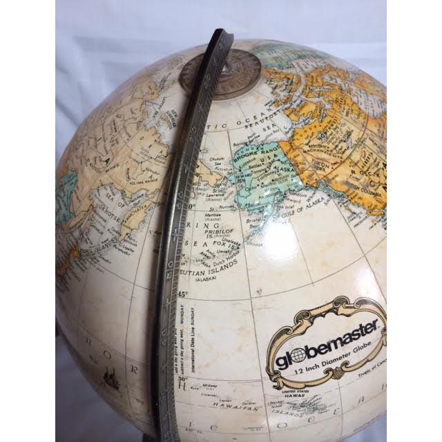 Globemaster Vintage World Globe - Image 6 of 6