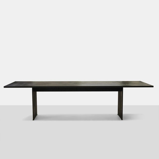 AM01 Dining Table in Leathered Granite A very large-scale one of a kind dining table created in San Francisco as part of a...