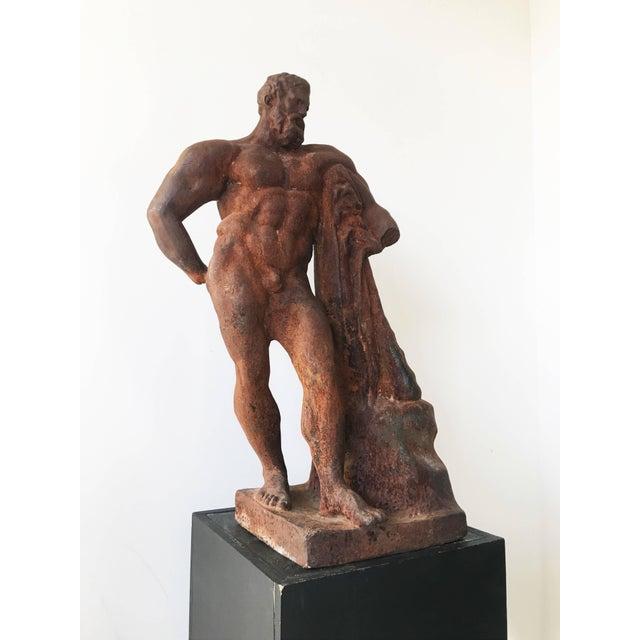 Metal Italian Serpentine Figure of the Farnese Hercules For Sale - Image 7 of 10
