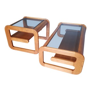 1970s Mid-Century Modern Mersman Waldrondron Cantilever Tables - a Pair For Sale
