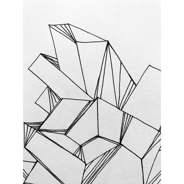 """2010s """"Formations"""" Original Pen & Ink Drawing For Sale - Image 5 of 6"""