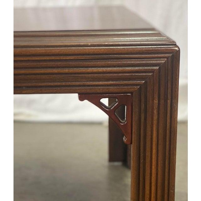 Vintage Mahogany Lane Altavista Chippendale Coffee Table For Sale In Greensboro - Image 6 of 9