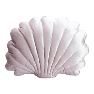 Large Shell Pillow - Blush Velvet