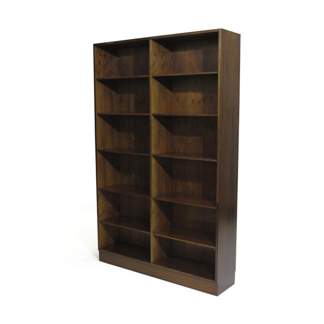 Danish Modern Danish Rosewood Bookcases by Omann Jun - a Pair For Sale - Image 3 of 8