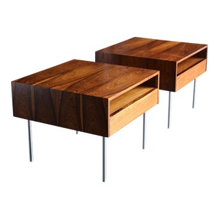 A/S Randers Møbelfabrik Rosewood Tables Circa 1960 - a Pair For Sale