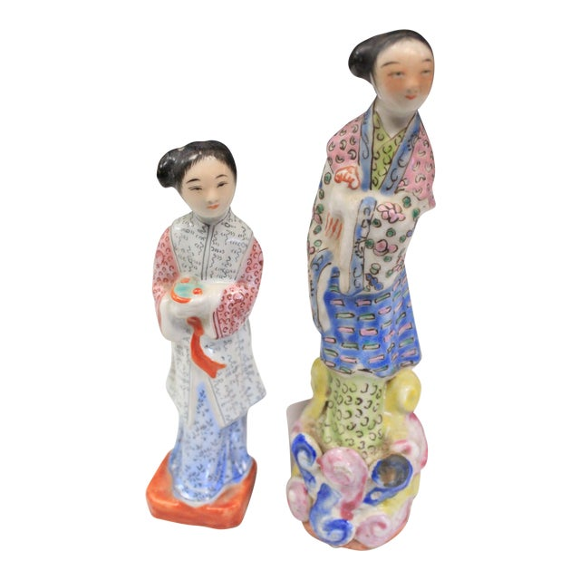 Chinese Porcelain Figurines - a Pair For Sale