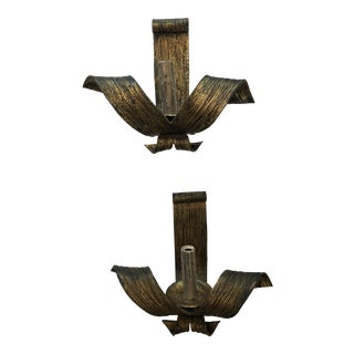 Mid-Century Spanish Wall Sconces - a Pair For Sale