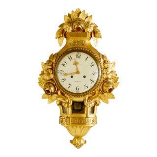 1900's Gustavian Wall Clock For Sale
