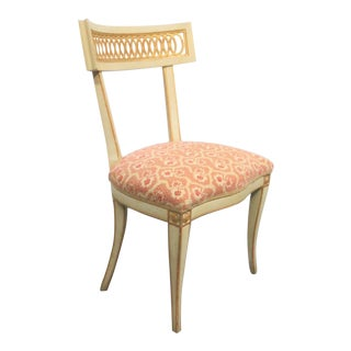 Italian Style Cream Paint Decorated Side Chair
